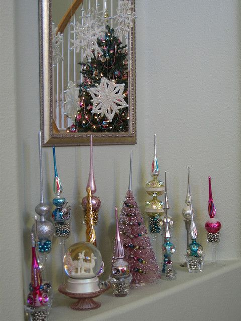 Vintage Christmas tree toppers - these are always ridiculously inexpensive on ebay so you can put together a collection fairly quickly!
