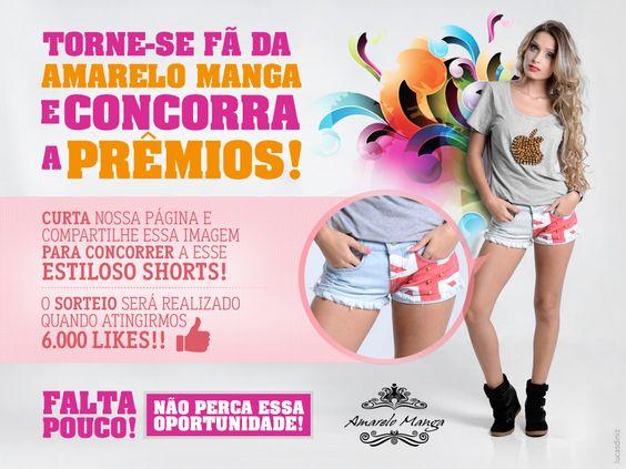 Amarelo Manga - Campanha 6.000 likes Facebook