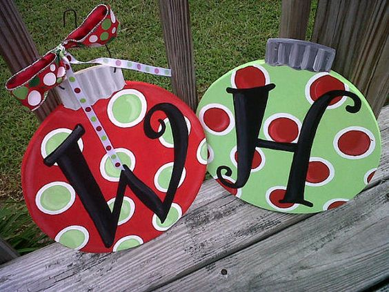 Ornament Door Hanger-- December