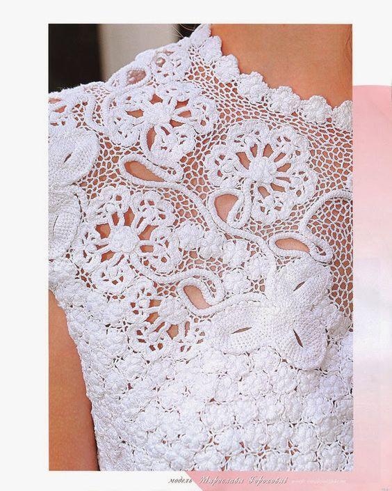 like the big openings . Irish crochet &: Top corset Irish crochet