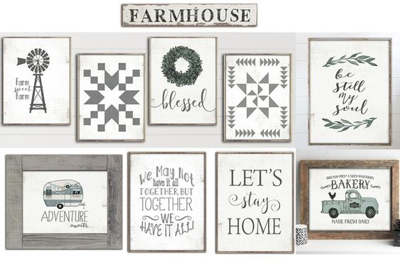 Our unique farmhouse rustic paper prints will add perfect fixer upper charm to your home decor