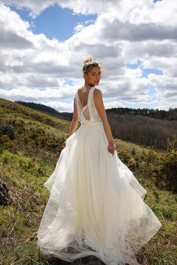 robe de mariage princesse dos ouvert
