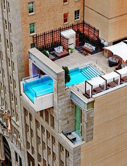 The Joule Hotel in Dallas boasts one of the world's most epic hotel pools