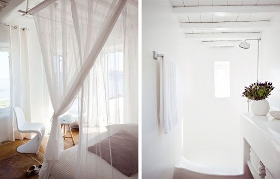 Mykonos villa over on Marie Claire Maison, love the white.
