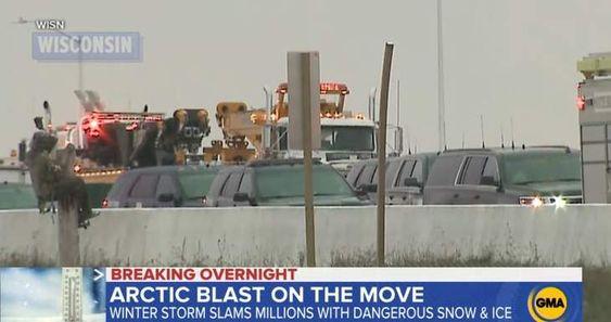 """Op de nieuwsfoto's van de sneeuwstorm en het ongeluk zagen ze de """"Magere Hein"""""""