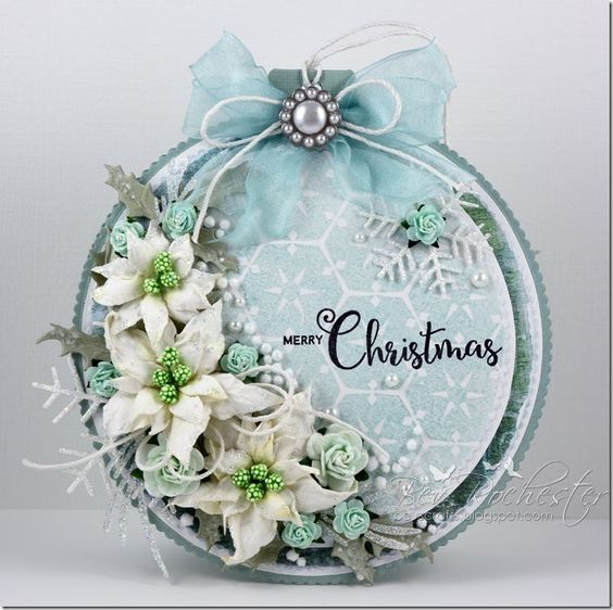 Bauble shaped card                                                                                                                                                                                 More: