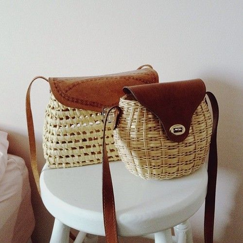 Straw bags: