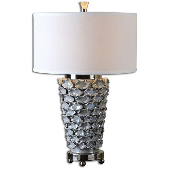 Uttermost Petalo Pearl Gray Table Lamp 26769-1