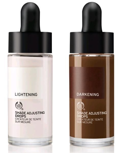 New at The Body Shop: Shade Adjusting Drops | Nouveau Cheap