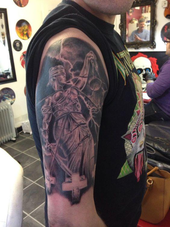 My metallica tattoo by talisman tattoostudio york for Metallica sleeve tattoo