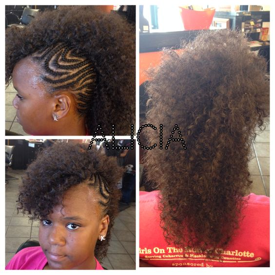 Crochet Hair Mohawk : Another diva ready for school!!!!! Mohawk crochet weave!!!! Natural ...