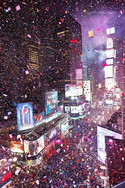Party until the confetti stops at Times Square' on New Year's Eve! #NewYorkCity