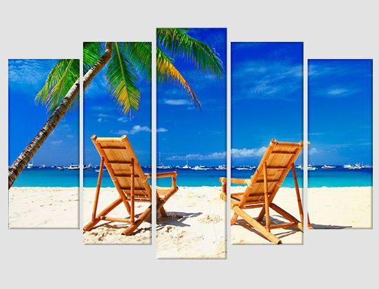 Romantic Beach Canvas Print Tropical Beach Photo Beach Canvas Art