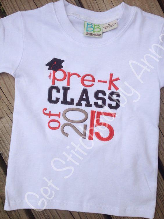 Pre-k Class of 2015 shirt, preschool shirt on Etsy, $20.00