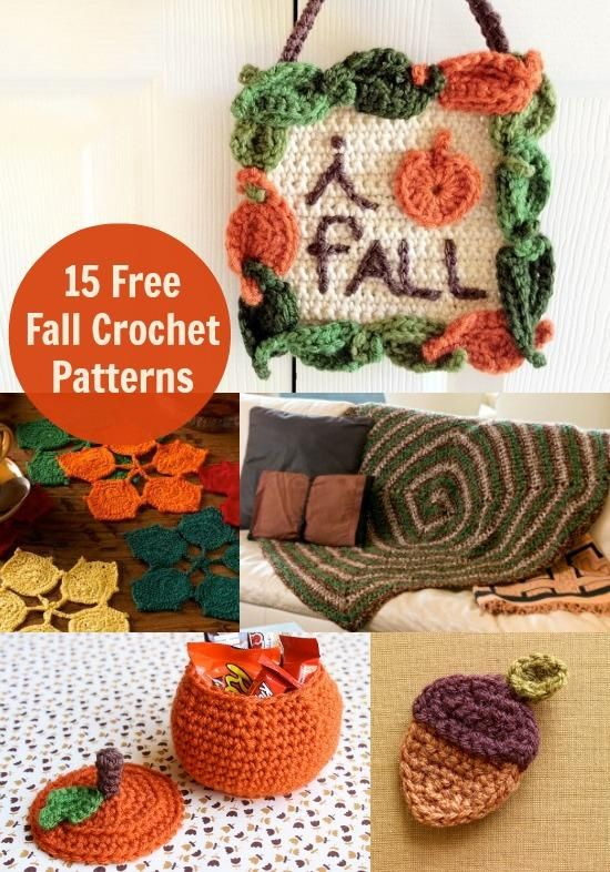 Fall Crochet Patterns : 15 Free Fall Crochet Patterns