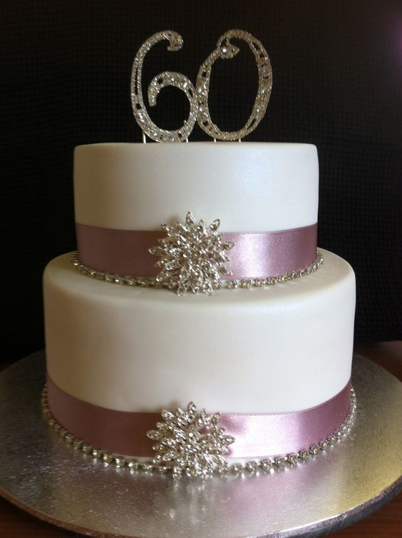 Cake Decorations For Diamond Wedding Anniversary : Diamond cake, 60th anniversary and Bling cakes on Pinterest
