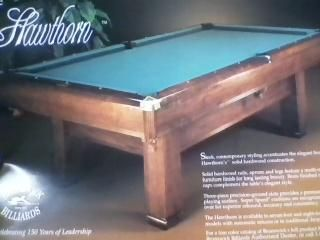 8' Brunswick Billiards Hawthorne Pool Table