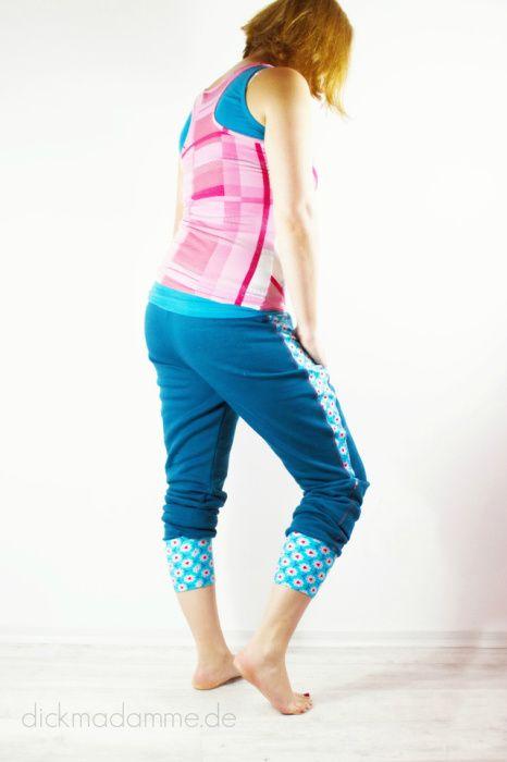 FrauDonna Damenhose Sweat Schnittmuster farbenmix dickmadamme Blog