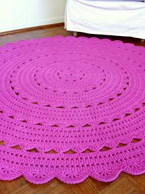 ...Handy Crafter...: Vacation Production Part 1: Huge Hot Pink Doily Rug