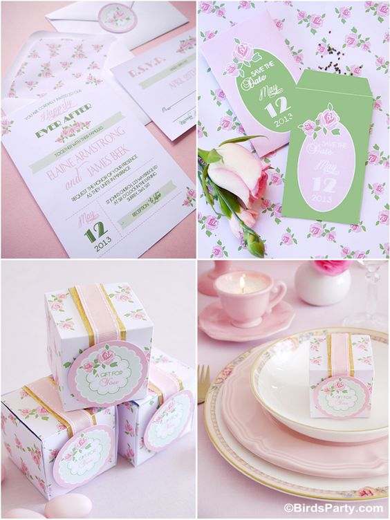 DIY Wedding Ideas for HGTV   FREE Printable Wedding Stationery!!! by Bird's Party