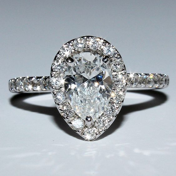 vintage engagement rings pear shaped #6 - Check out more pear shaped engagement rings at MyPearShapedEngagementRings.com