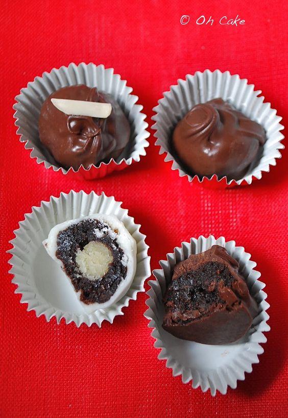 Boozy Brownie Truffles! Courtesy of Oh Cake