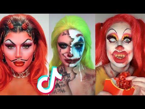 Halloween Makeup Ideas Compilation Tik Tok Edition 2019 Youtube Creepy Halloween Makeup Cute Halloween Makeup Cool Halloween Makeup