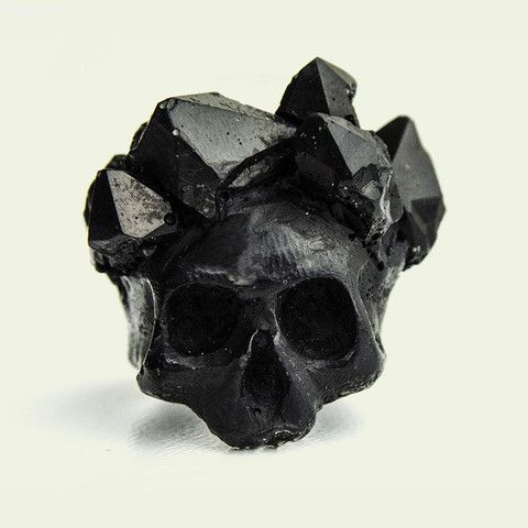 Crystal Crown Skull Ring by Macabre Gadgets: