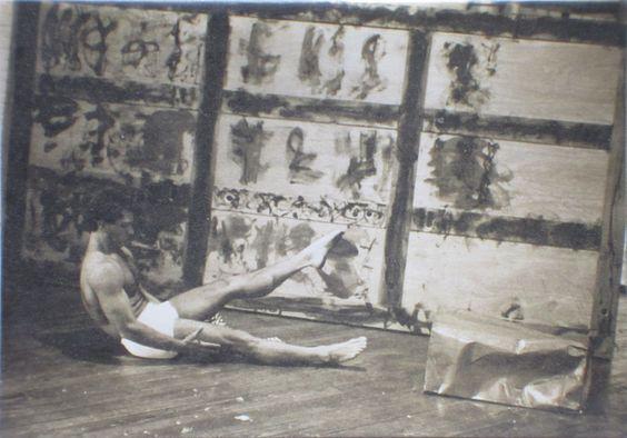 "Emilio Segares, b.1953 Santiago de Cuba, Costumed Dancer with ""Nine Panel Relief, "" 1988,  Oil and acrylic on wood  6 x 12 feet"