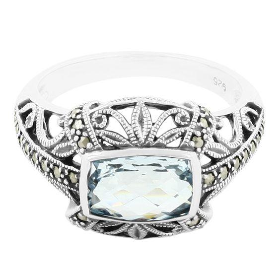 Zilveren+ring+met+een+hemel-blauwe+topaas+-+prachtig+ontwerp+en+vakmanschap.+Erg+voordelig+en+direct+van+de+fabrikant.+Alle+sieraden+met+echtheidscertificaat.