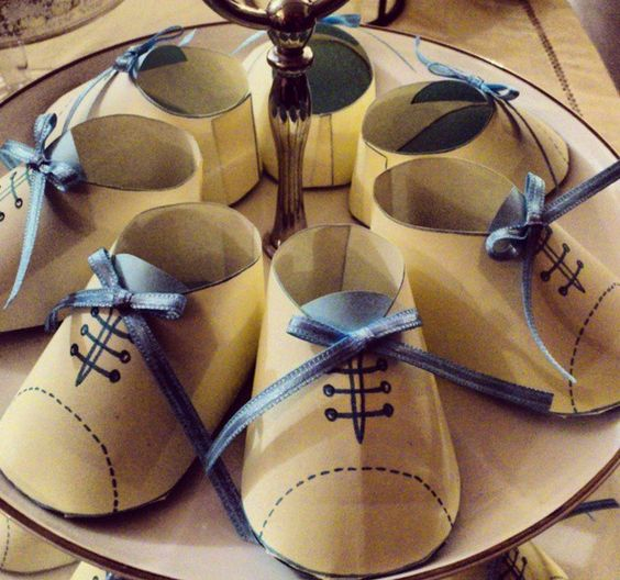 Handmade Baby Gifts Ireland : Paper shoes baby boy shower and on