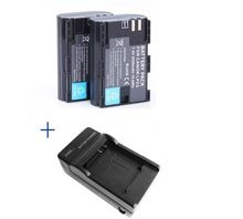 2pcs 2650mAh LP-E6 LPE6 Camera Batteries + Charger For Canon 5D Mark II 7D 60D EOS 6D, for canon accessories + wholesale(China (Mainland))