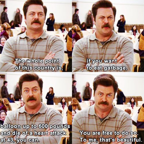 This declaration of independence. | 23 Times Ron Swanson Was Inarguably Right About The World:
