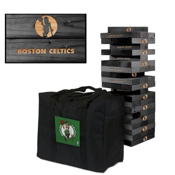 Boston Celtics Tumble Tower Game Set Onyx