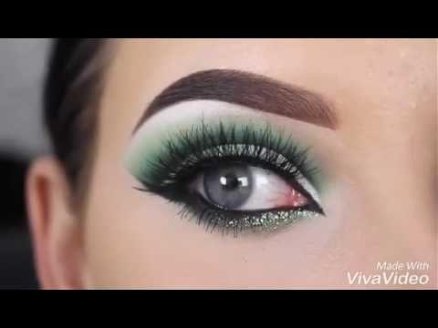 مكياج عيون اخضر Youtube Makeup Natural Nails Make Up