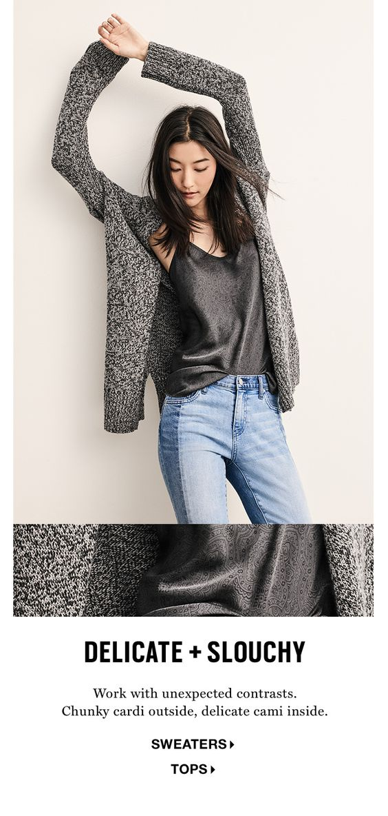 shop delicate and slouchy