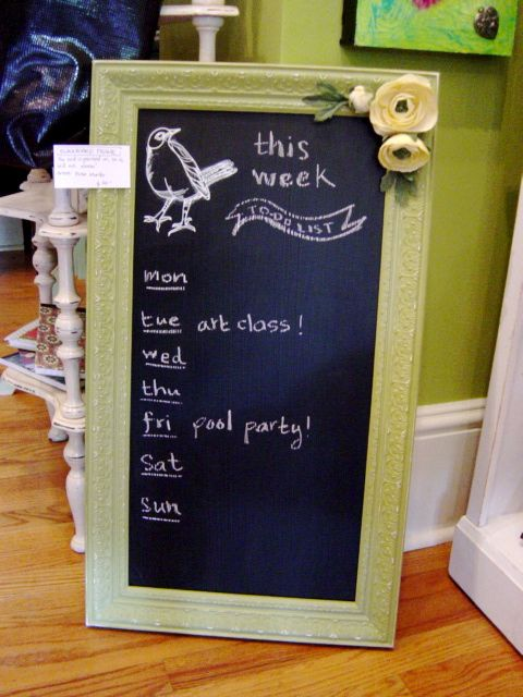 repurposed chalk board idea...I am trying to make for our kitchen