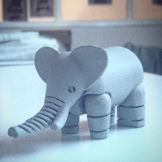 #3dprinting #3dart #nid #design #elephant #toys #awesome_shots #art #all_shots #prototype #bestoftheday #cool by lucabinagliadesign