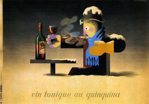 Vin Tonique au Quinquina (Dubonnet) by A.M. Cassandre, 1935