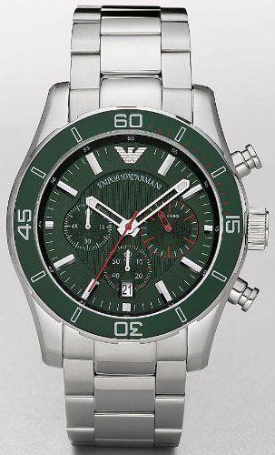 Armani Emporio Quartz Chronograph Stainless Steel Men's Watch - AR5934 Armani. $160.00. Silicone covering Stainless Steel Strap. Chronograph. Water Resistant. Quartz Analog. Save 54%!
