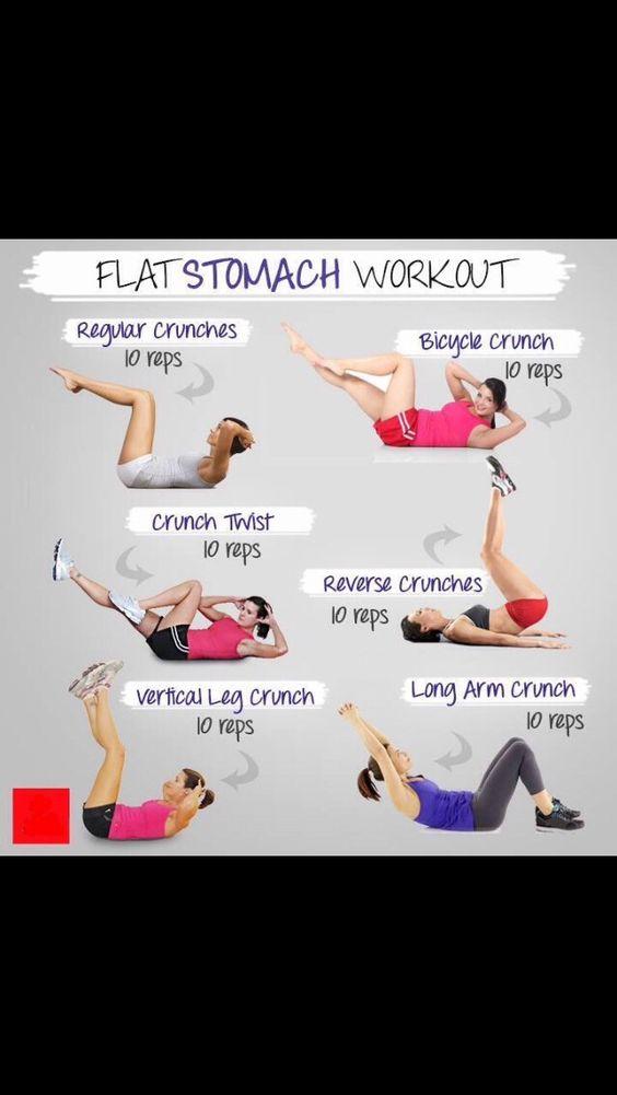 Flat Stomach Workout  #Health #Fitness #Trusper #Tip