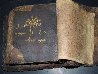 Rare antique Bible manuscript written in Syriac, a dialect of the native language of Jesus - thought to be 2,000 years old