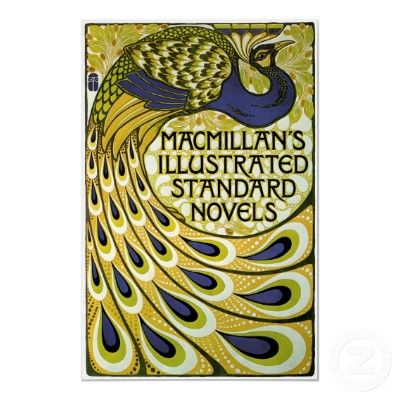 Vintage Art Nouveau, Macmillan's Peacock Feather Print by YesterdayCafe