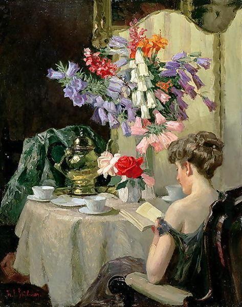 Robert Emil Stübner (German, 1874-1931) - Tea time, c. 1910: