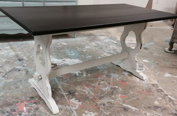 "Here is another cute writing desk. It's extra deep so you have plenty of work space. What do you think? The dimensions are 60"" L, 31"" W, 29"" H. SOLD!! for $250 https://www.pinterest.com/shabbychictexas/my-shabby-chic-desks/"