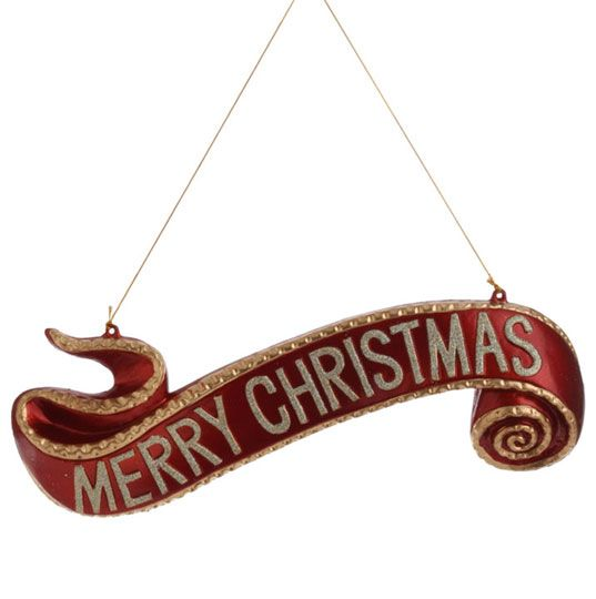 Merry christmas banner ornament holiday decor