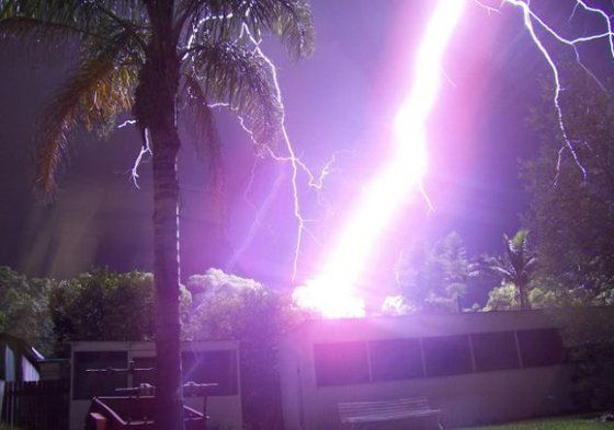 Close lightning strikes