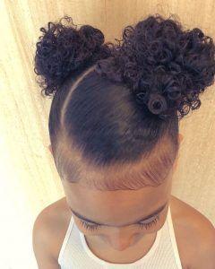 21 Peinados para nina cabello corto rizado