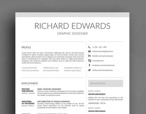 free resume template. elegant. free resume template psd ai. clean ...