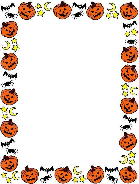 photo about Free Printable Halloween Clipart referred to as No cost Printable Halloween Webpage Borders Spanish Halloween